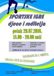 Plakat - sportske igre 29.07.2016.